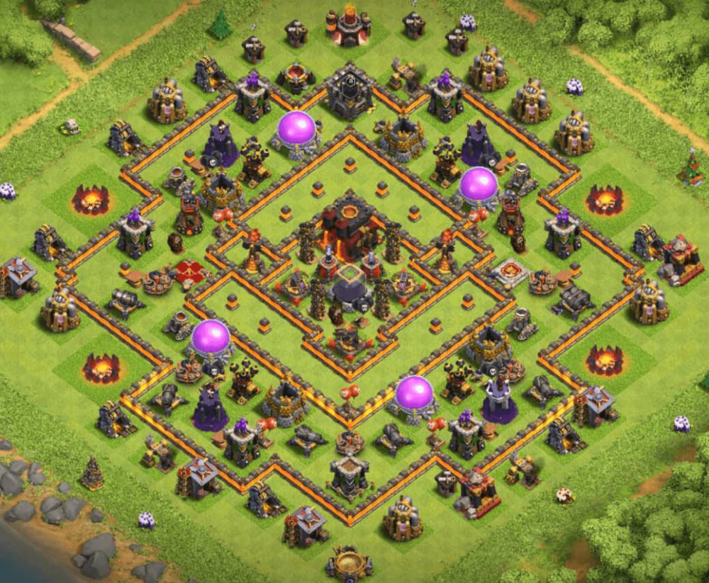 clash of clans coc th 10 trophy base