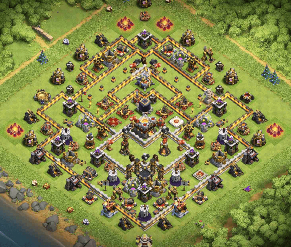 clash of clans coc th 11 trophy base