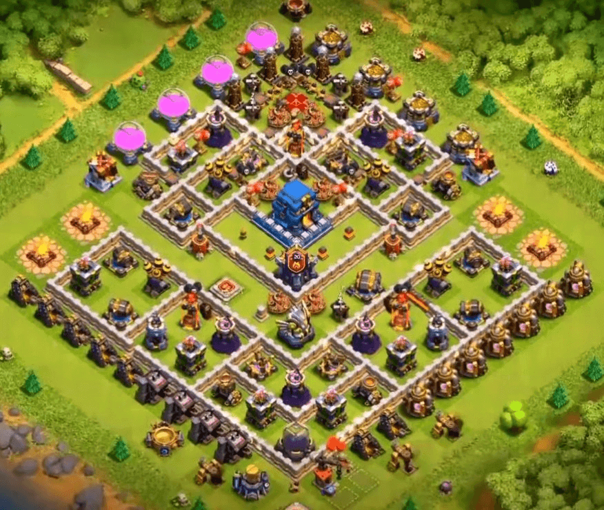 clash of clans coc th 12 trophy base