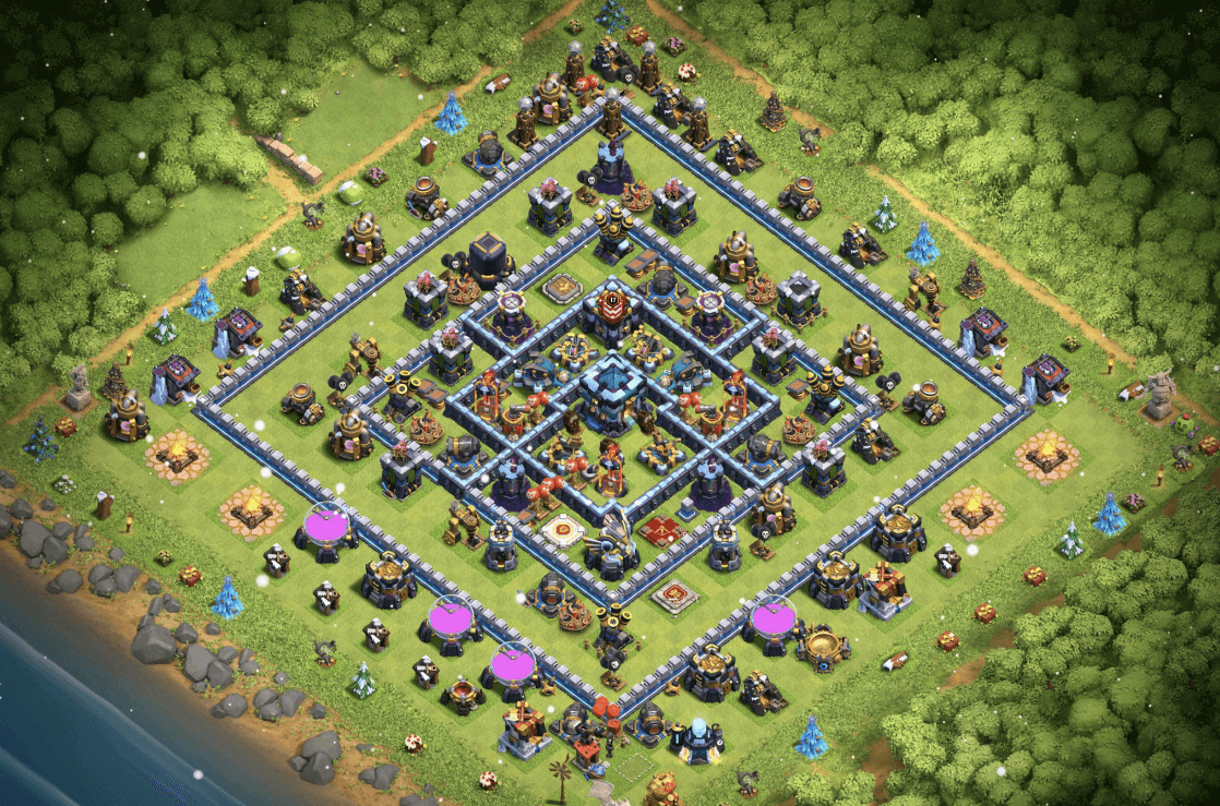 clash of clans coc th 13 trophy base