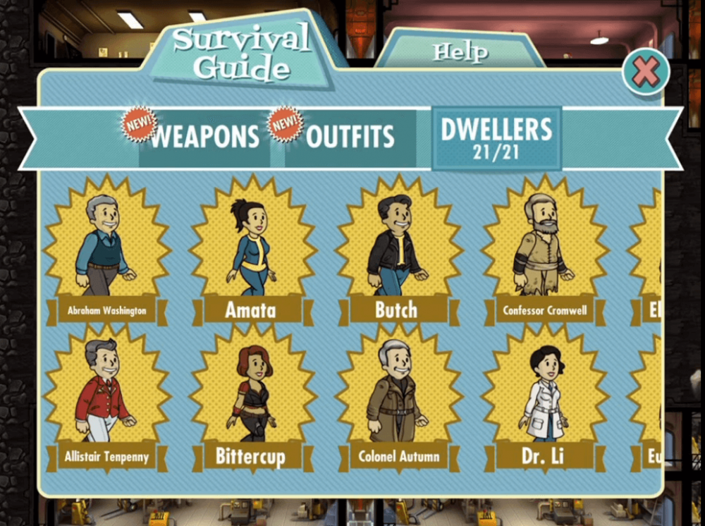 fallout shelter legendary dwellers how to