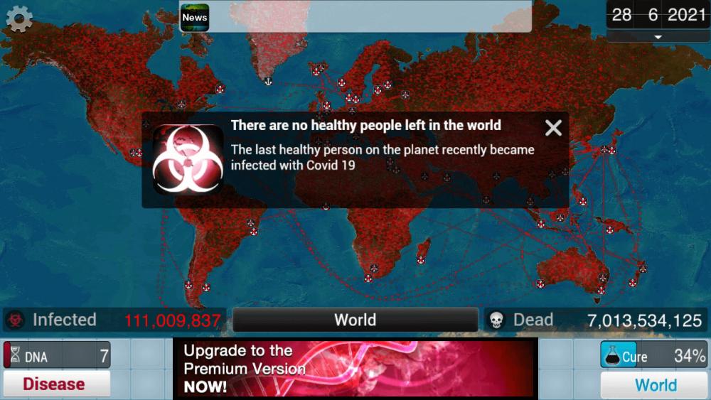 plague inc end game