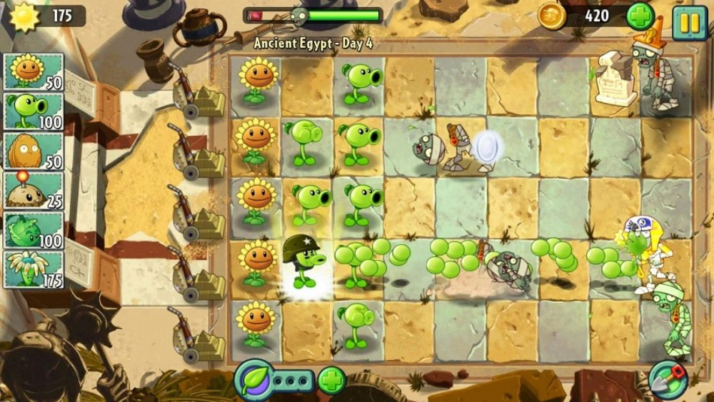 plants vs zombies 2 game play