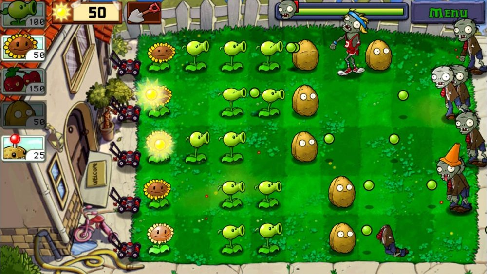 plants vs zombies classic game play