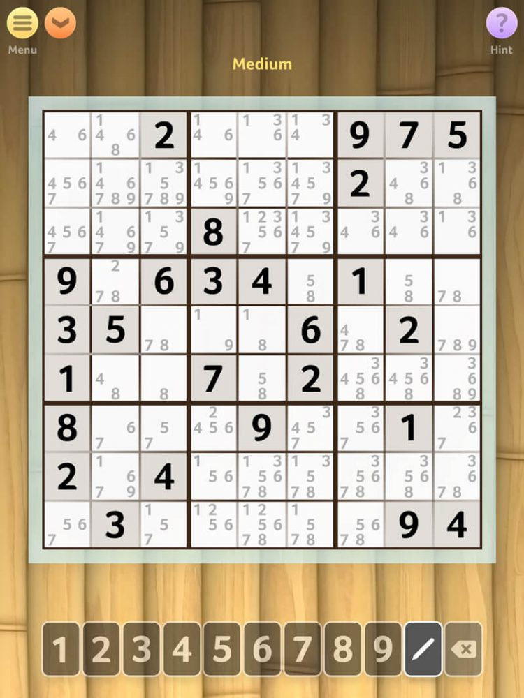 sudoku free brain game