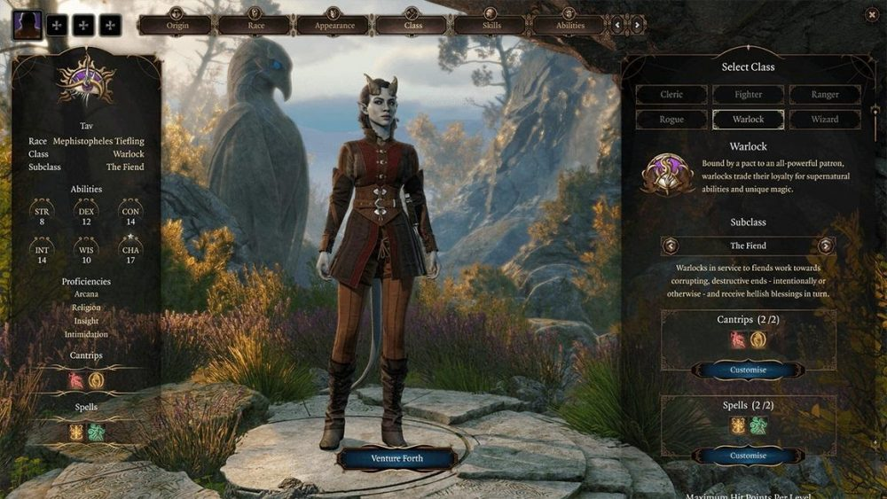 Baldurs Gate Character