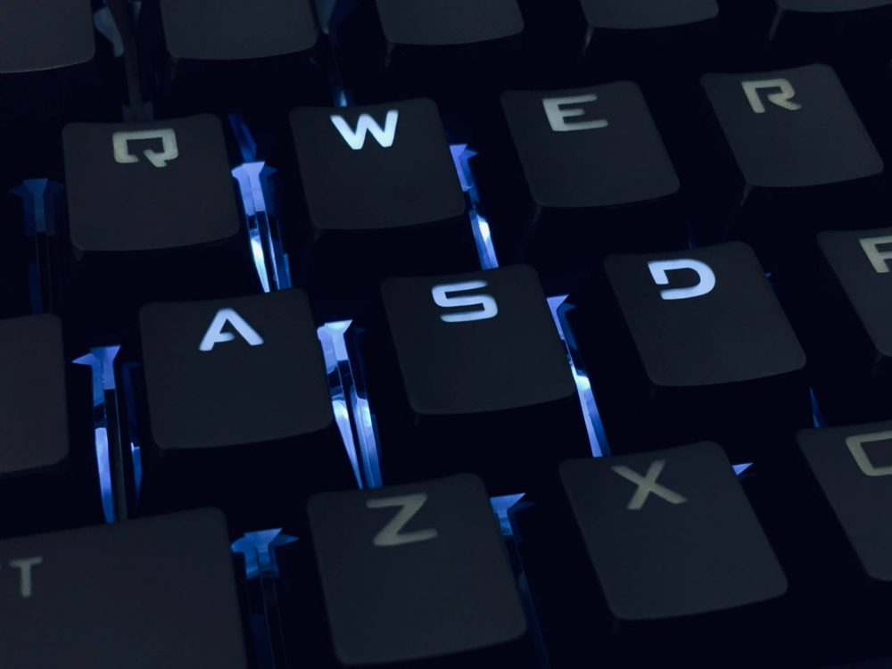 mechanical keyboard stock photo