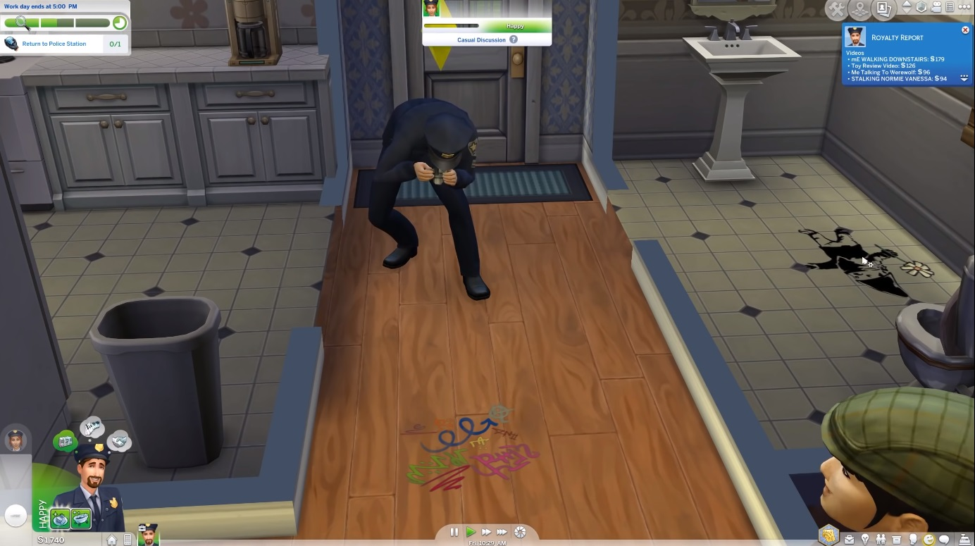 The Sims 4 Detective Work