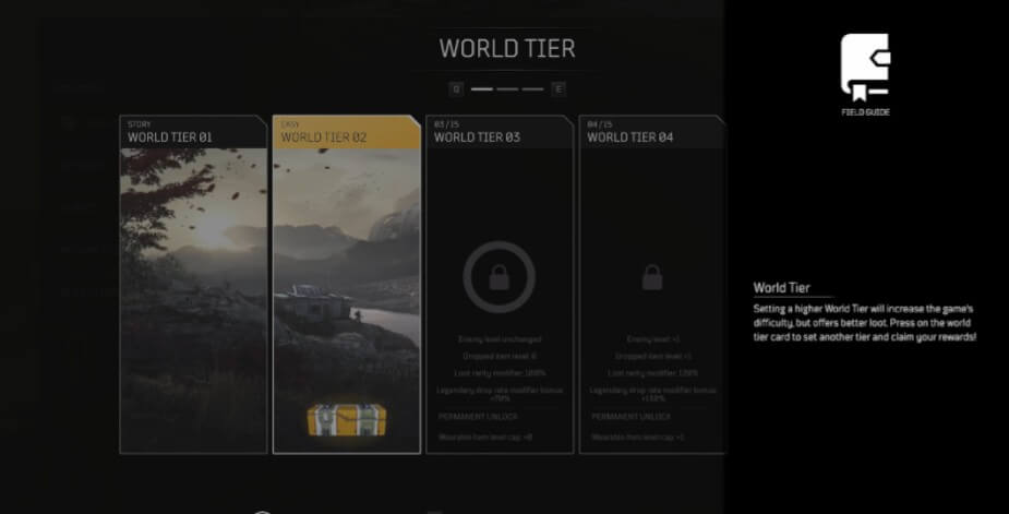 Outriders world tier