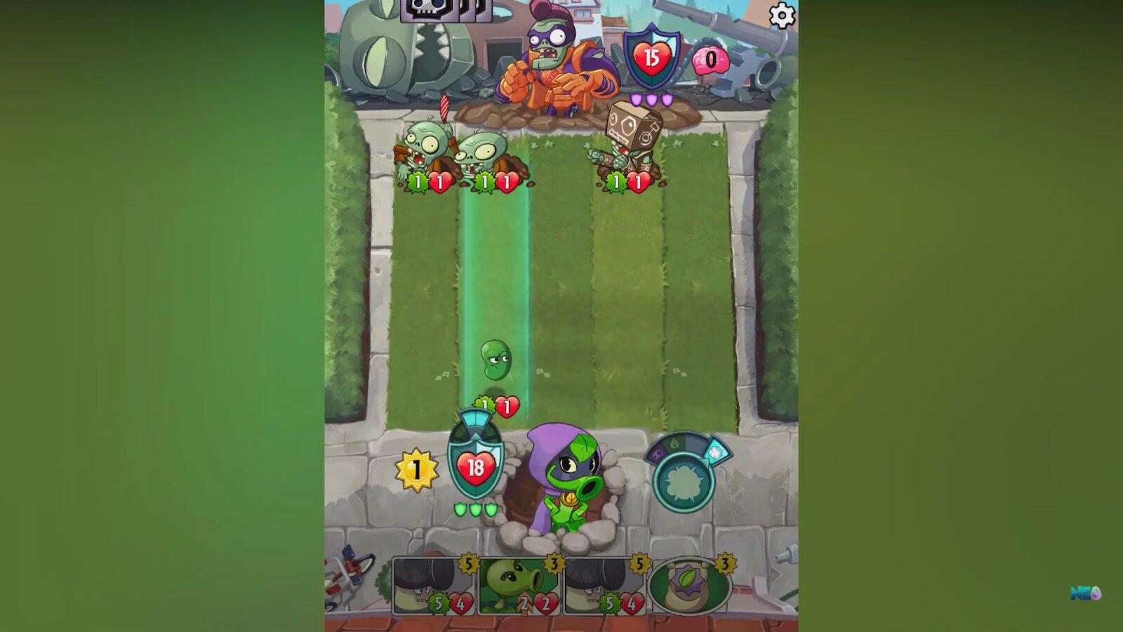 plants vs zombies heroes battle
