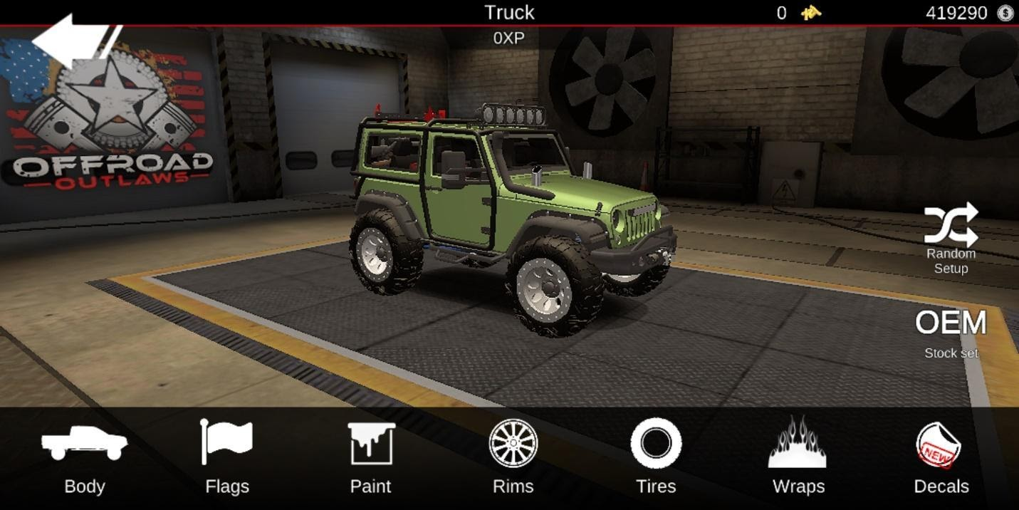Offroad Outlaws Jeep