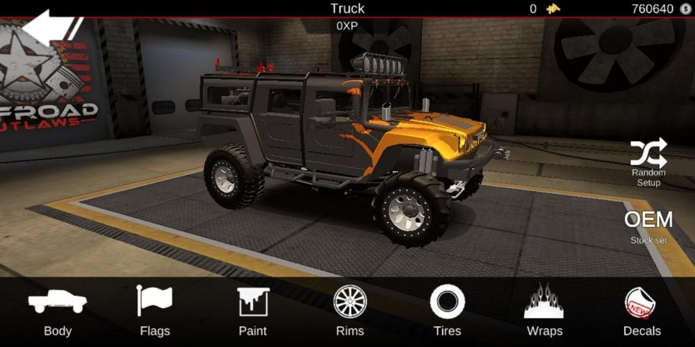 Offroad Outlaws hummer